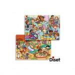 Puzzle Parque y habitos de juego a partir de 4 años 2x20 piezas Diset