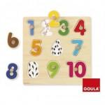 Puzzle a partir de 1 año Números 10 piezas Goula