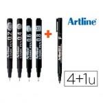 Rotulador Artline Comic Pen Trazos Surtidos color Negro + Permanente 853