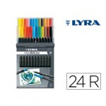 Rotulador Lyra Duo Aqua Brush Art Pen doble punta fina y pincel Caja 24 unidades