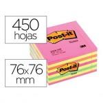 Bloc quita y pon Post-it ® rosa neon