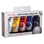 Pintura Acrilica Reeves 5 colores surtidos 75 ml