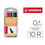 Rotulador Stabilo Point 88 Estuche 10 Colores