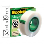 Cinta adhesiva Scotch magic 33 mt x 19 mm