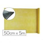 Entretela Liderpapel 25g m2 rollo de 5m color Amarillo