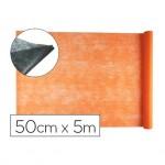 Entretela Liderpapel 25g m2 rollo de 5m color Naranja