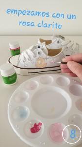 Pintar zapatillas con pintura para tela paso a paso