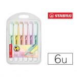 Rotulador Stabilo Swing Cool Pastel Fluorescente Estuche 6 unidades