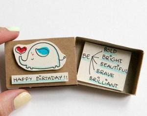 Cajas de cerillas con mensaje