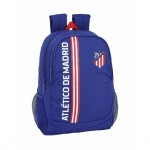 Mochila escolar Atletico de Madrid 44x32x16 cm de Poliester In Blue adaptable a carro