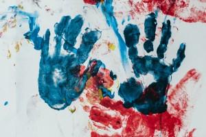 Témperas para pintar con los pies