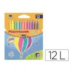 Lapices de cera Plastidecor caja de 12 colores pastel y metalico