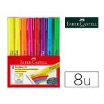 Rotulador Faber Castell fluorescente Textliner 38 estuche 8 unidades colores surtidos